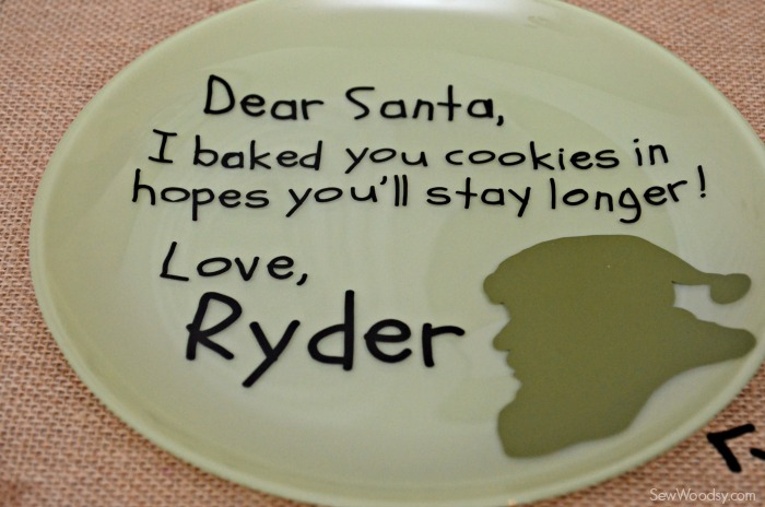 DIY Personalized Santa Cookie Plate 7