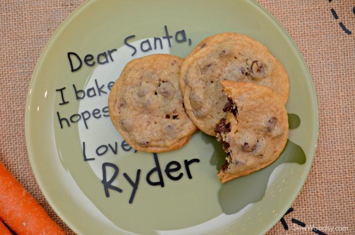 DIY Personalized Santa Cookie Plate 8