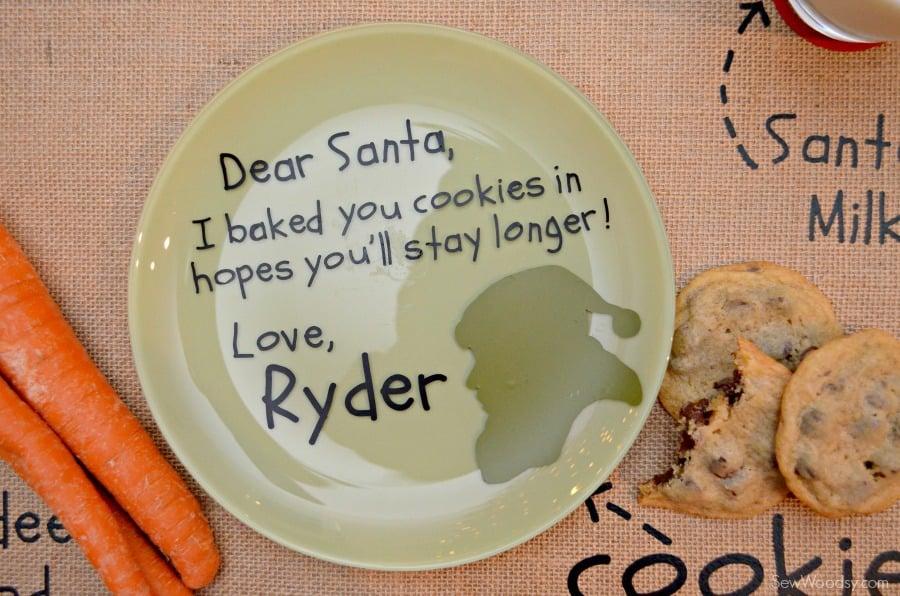 DIY Personalized Santa Cookie Plate 9