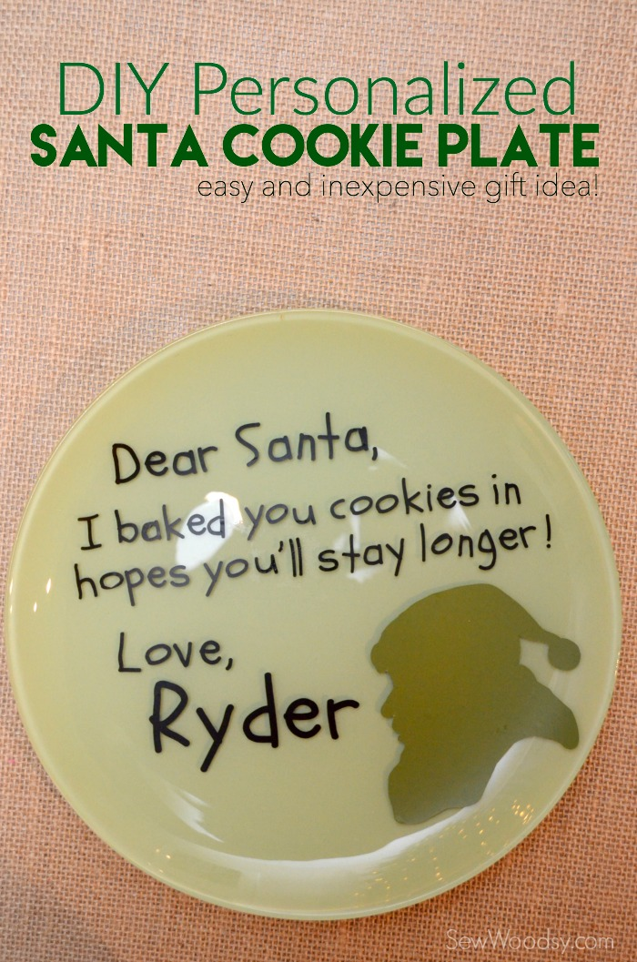 DIY Personalized Santa Cookie Plate Sew Woodsy