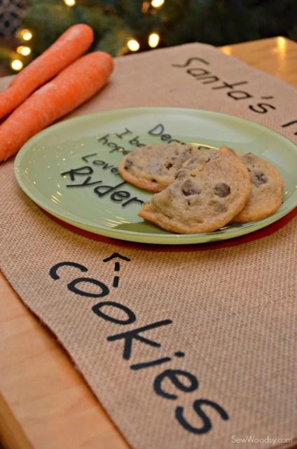 DIY Santa's Cookie and Milk Placemat 10