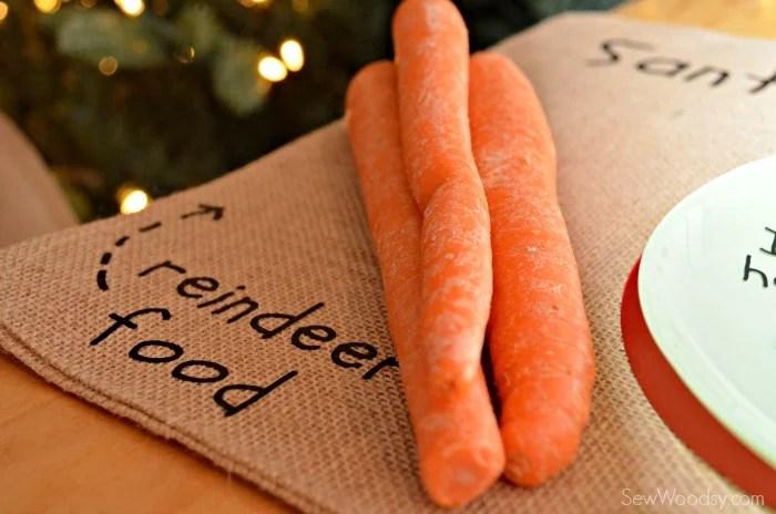 DIY Santa's Cookie and Milk Placemat 11