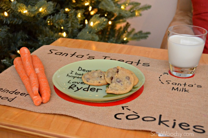 DIY Santa's Cookie and Milk Placemat 13