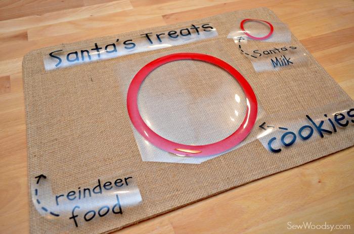 DIY Santa's Cookie and Milk Placemat 4