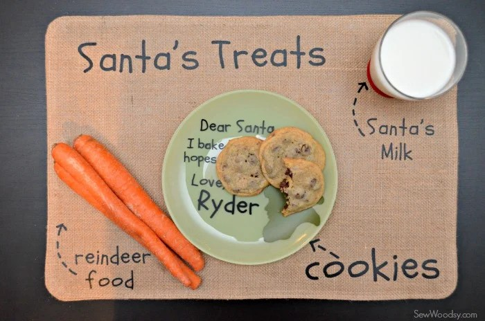 DIY Santa's Cookie and Milk Placemat 7