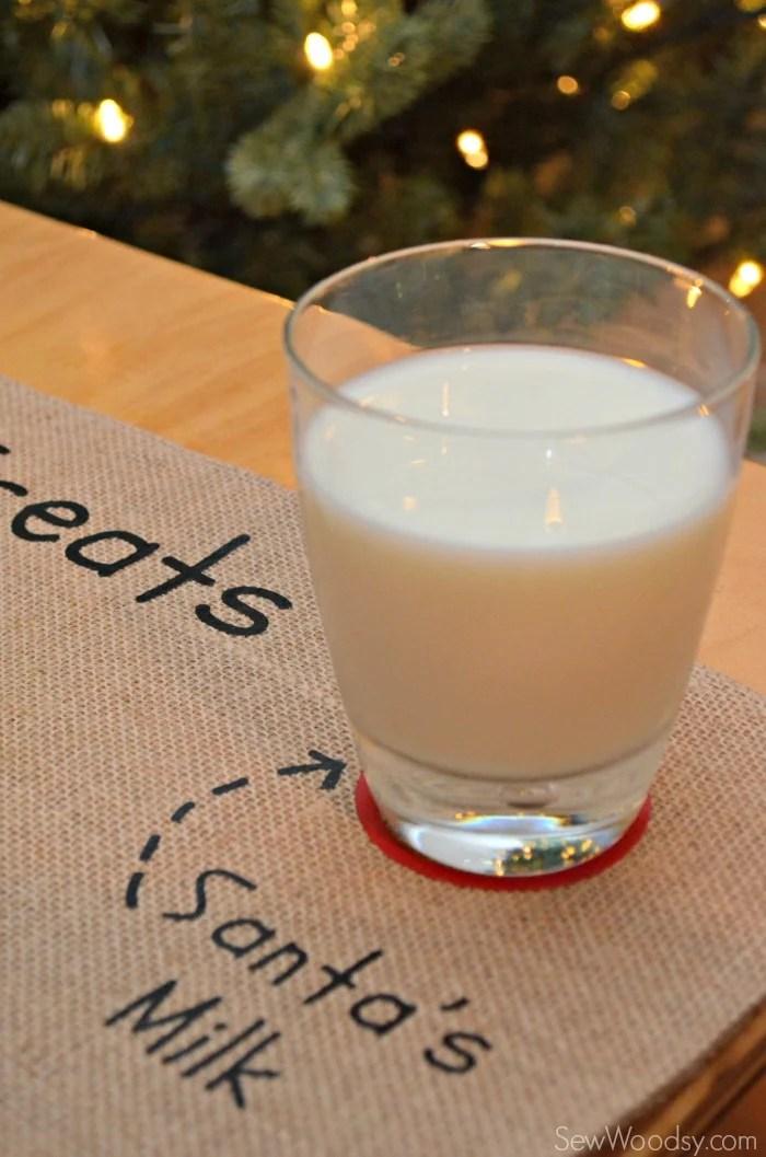 DIY Santa's Cookie and Milk Placemat 8