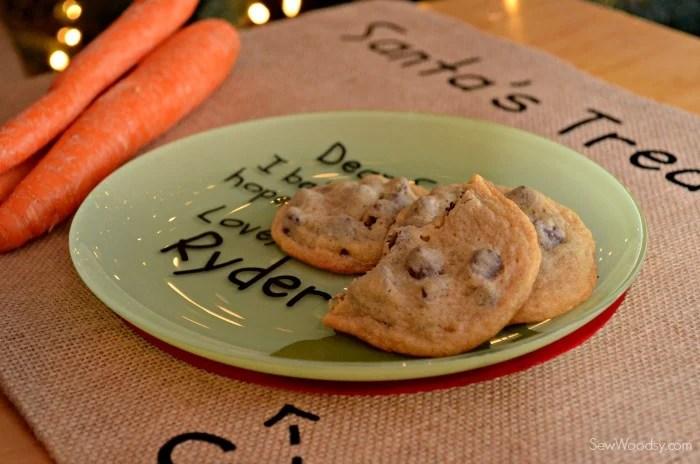 DIY Santa's Cookie and Milk Placemat 9