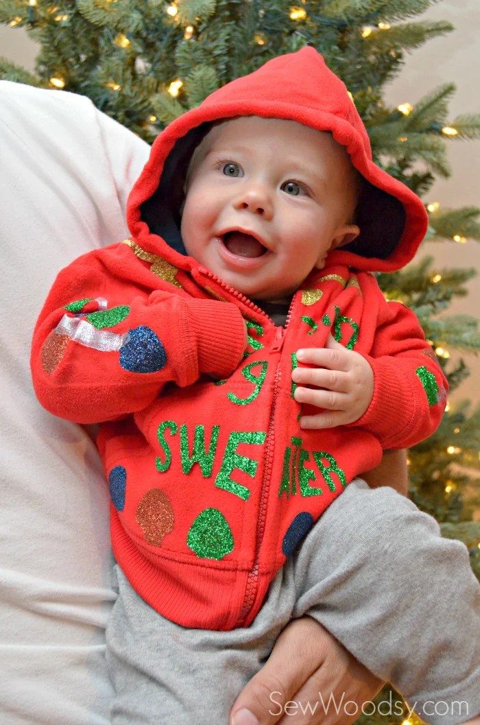 DIY Baby's First Ugly Christmas Sweater