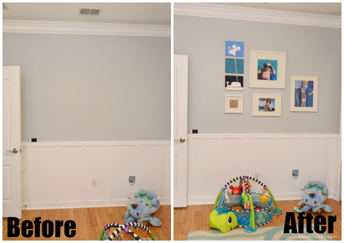 before and after nursery gallery wall