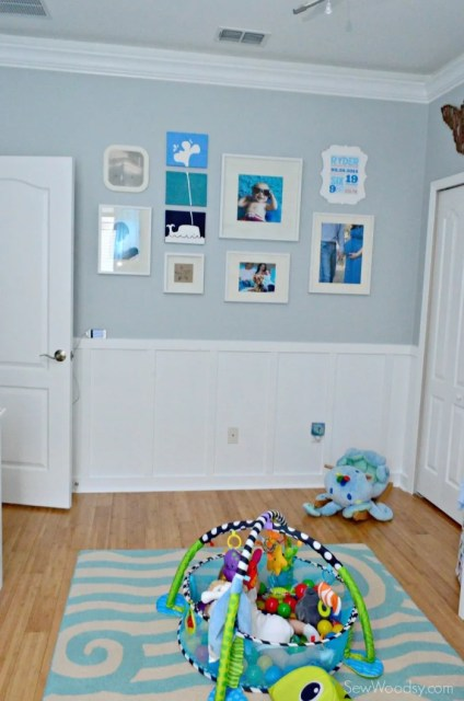 Nursery Gallary Wall with Whales