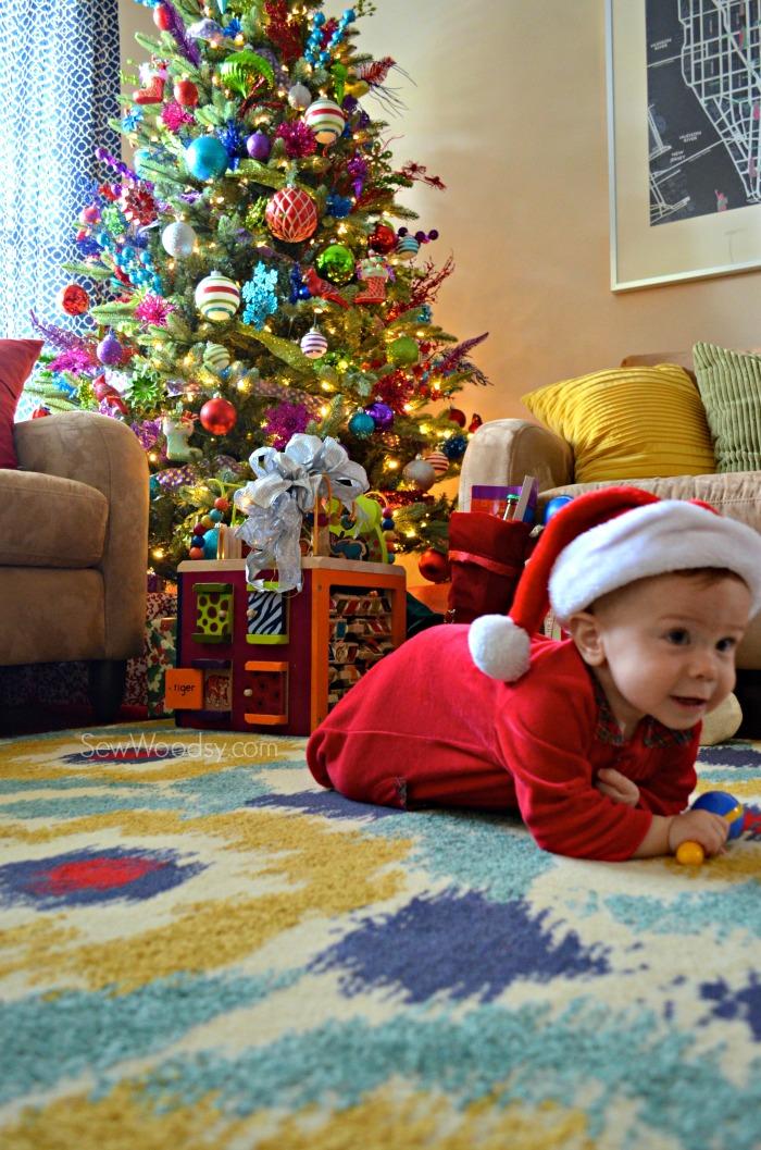 crawling santa baby