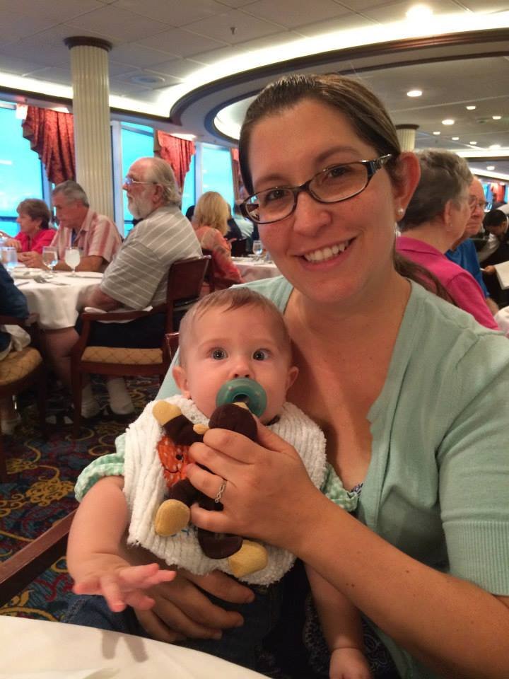 Cruising with an Infant at dinner