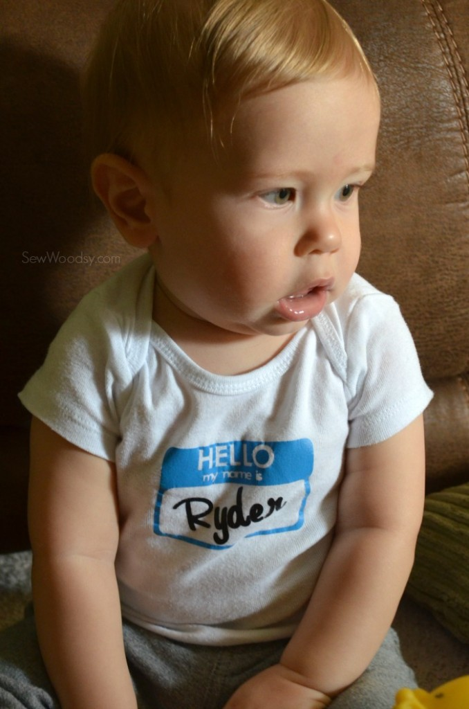 Hello My Name Is Onesie - Ryder