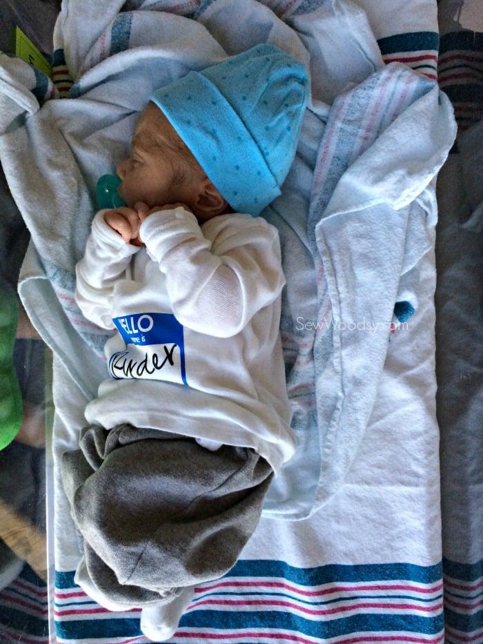 Hello My Name Is snap shirt newborn 1