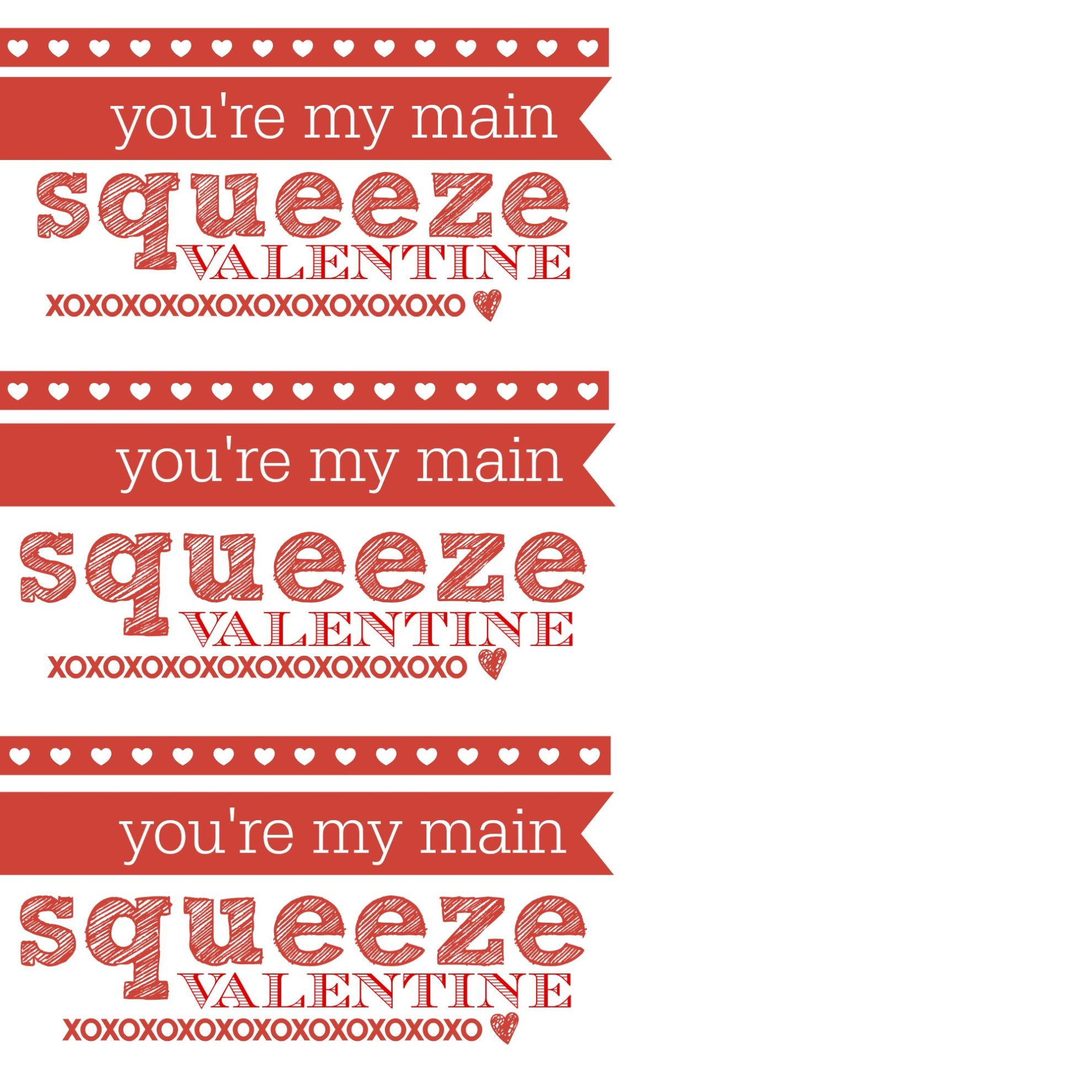 you're my main squeeze valentine