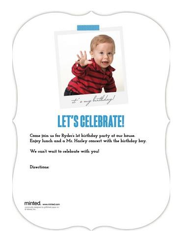 1st Birthday Invitation Back