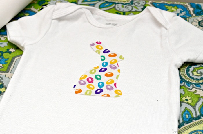 DIY Easter Bunny Onesie with Name 1