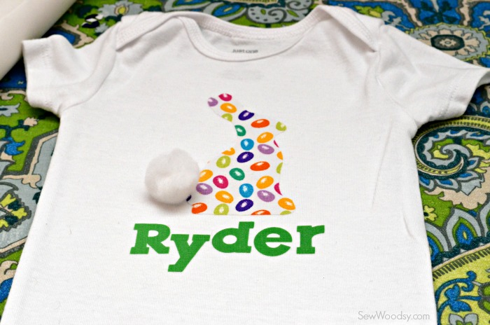 DIY Easter Bunny Onesie with Name 4