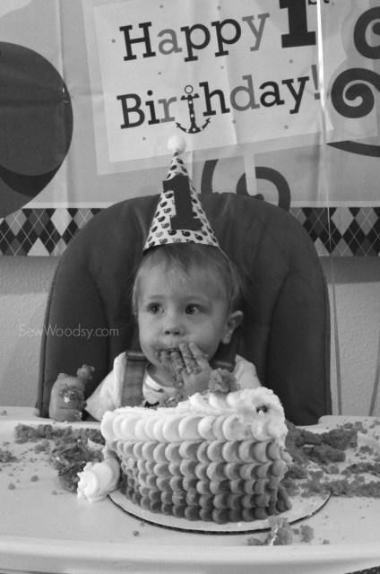 1st birthday boy cake smash with pedal cake