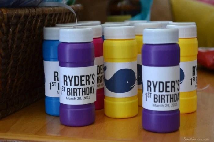 DIY Birthday Bubbles Favor