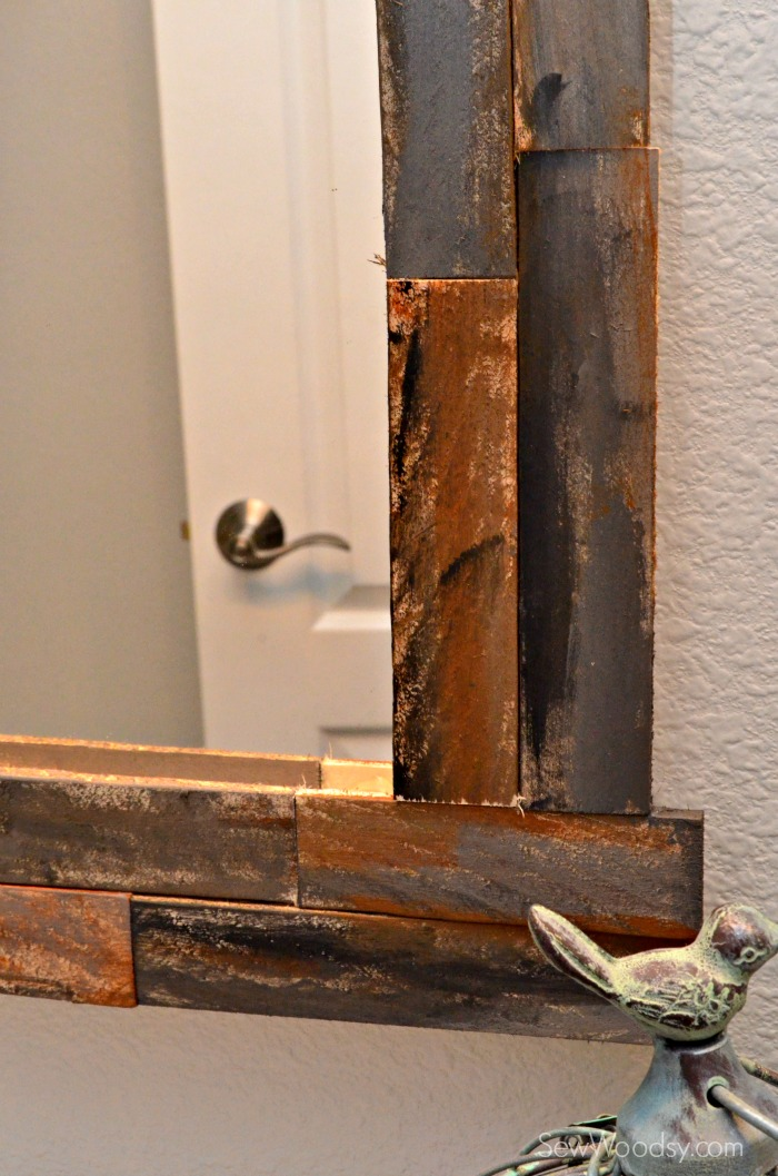 DIY Rustic Decorative Mirror