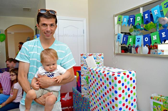 Daddy and birthday boy