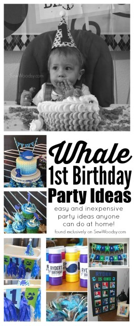 Awesome ideas -->> Whale 1st Birthday Party Ideas
