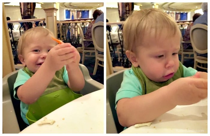 1 Year Old Dining on a Cruise