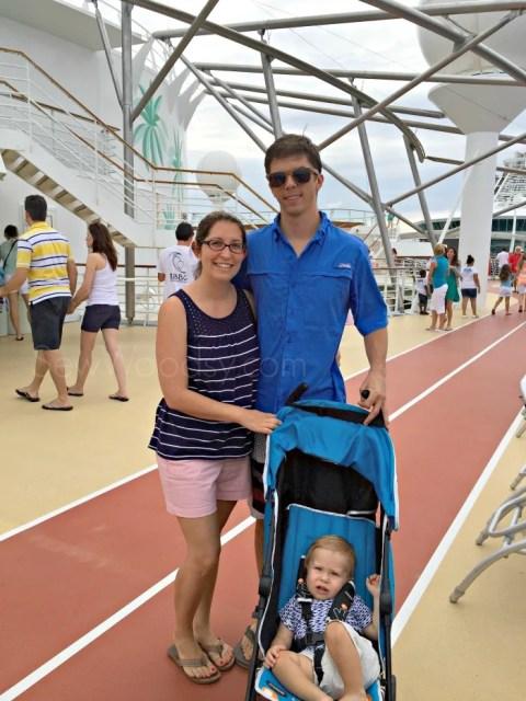 Family on a Cruise Ship