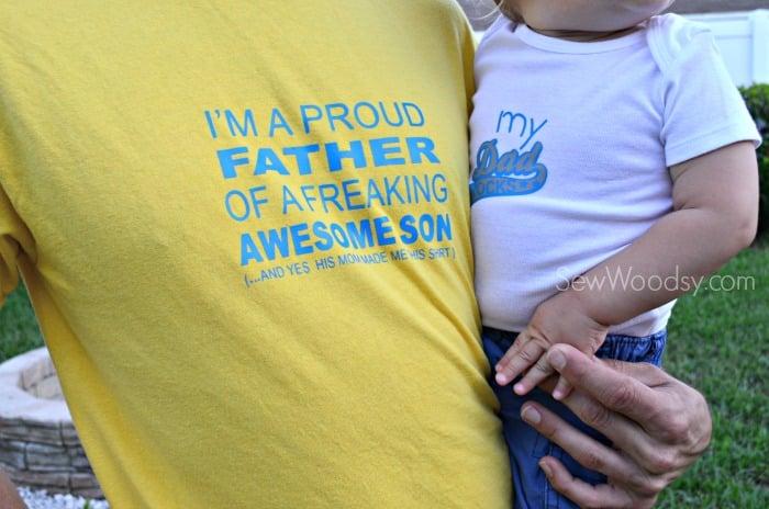 DIY I'm A Proud Father T-Shirt 6