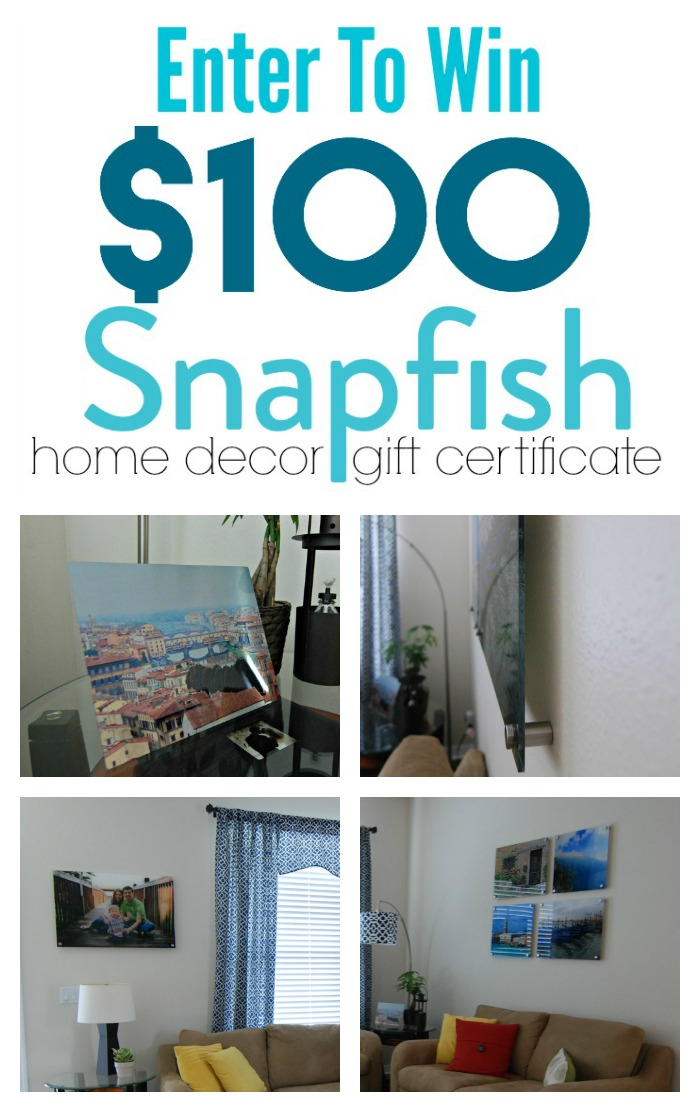 Enter to win $100 Snapfish Home Decor Gift Certificate #snapfishbloggers