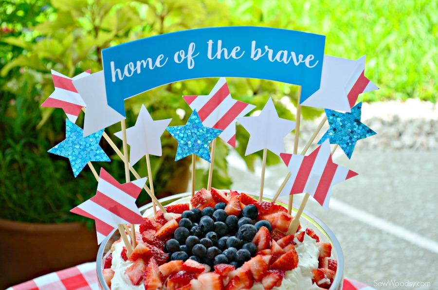 Home of the Brave Cake Topper 8