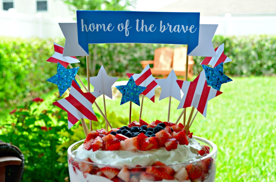 Home of the Brave Cake Topper