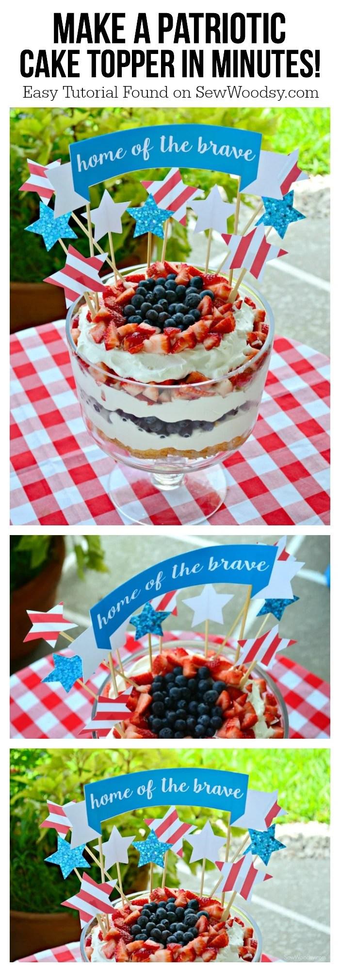 Make a patriotic cake topper in minutes!