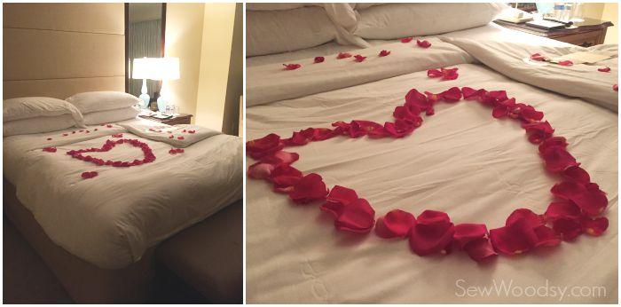 Romantic Rose Petal bed