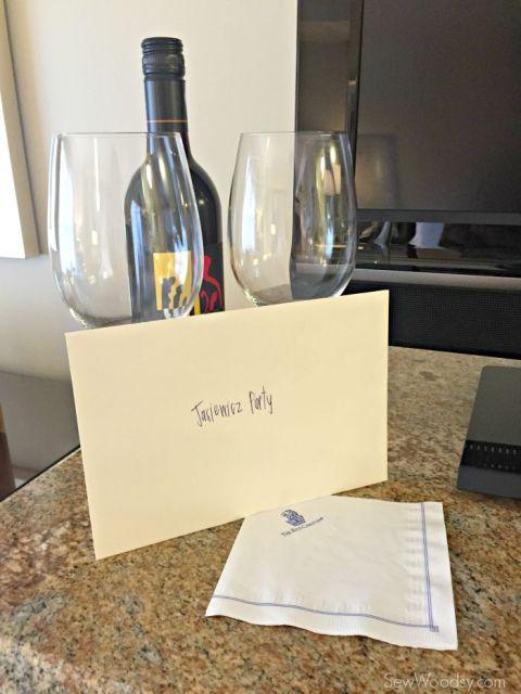 surprise bottle of wine!