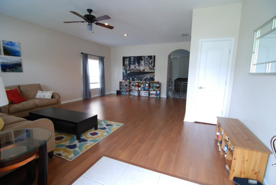 formal living room with entry way