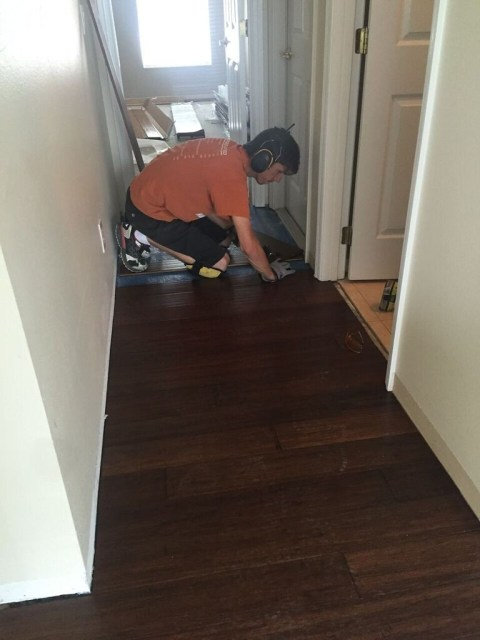 hardwood floors in the hallway