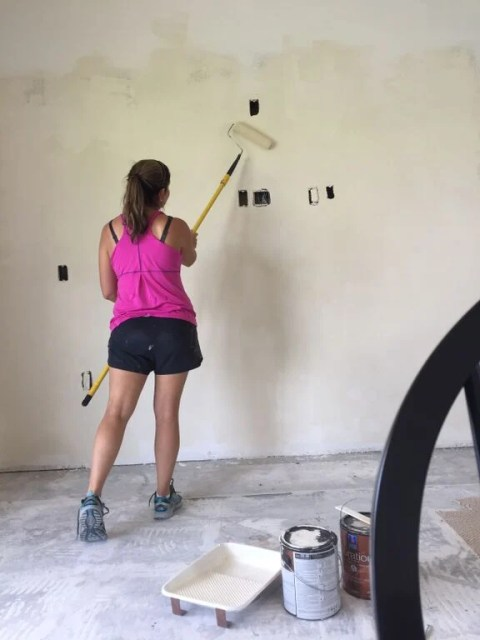 painting the new drywall