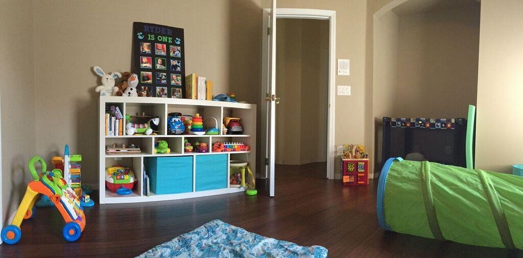 playroom bookshelf