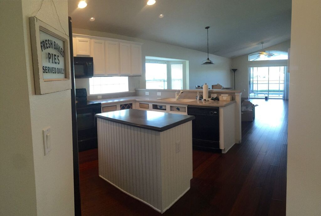 renovated white kitchen cabinets