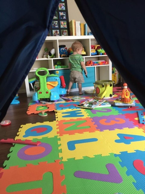 tent view in the playroom