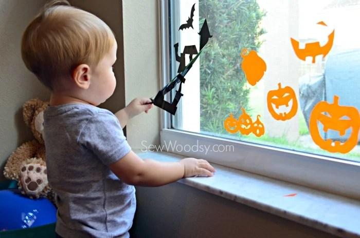 DIY Halloween Window Clings