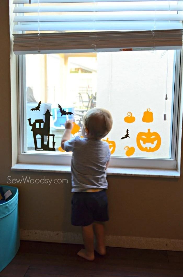 DIY Halloween Window Clings 6