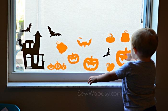 DIY Halloween Window Clings 7
