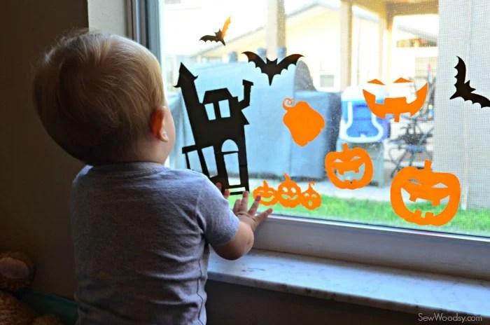 DIY Halloween Window Clings 8