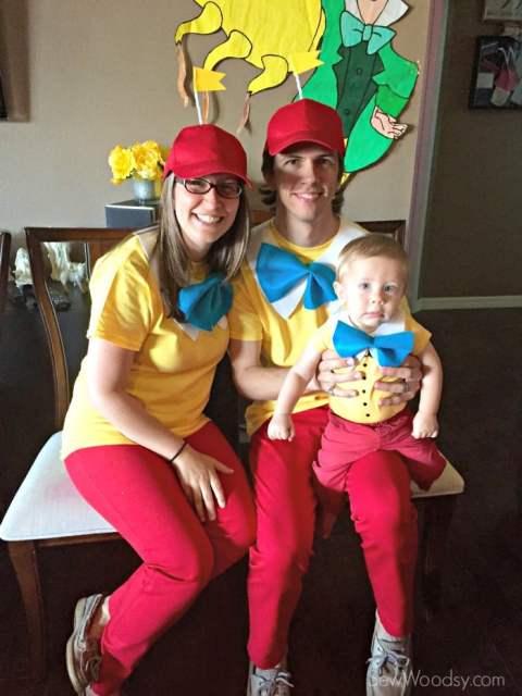 Easy Tweedle Family Costume + Baby