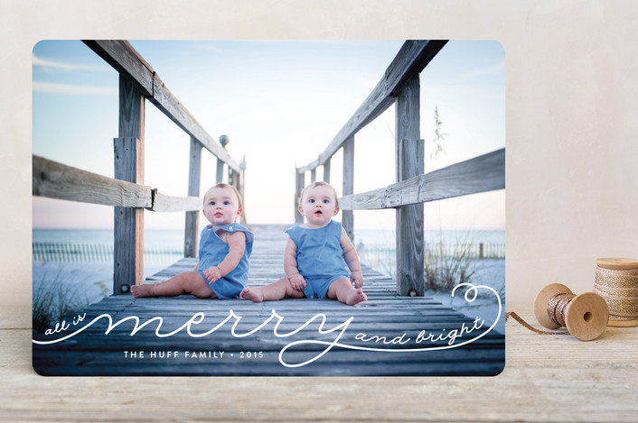 All Is Merry Christmas Photo Cards