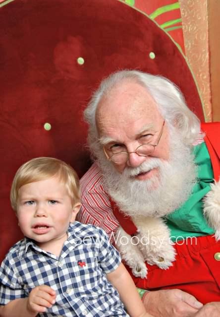 Confused Toddler Santa Photo