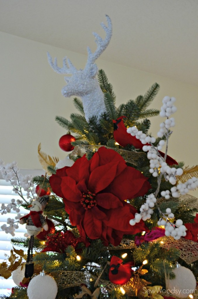 Glitter Dear Christmas Tree Topper